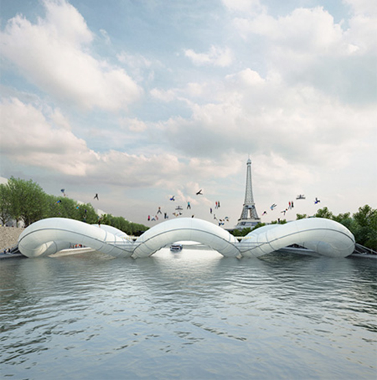 Trampoline Bridge Concept, Paris France