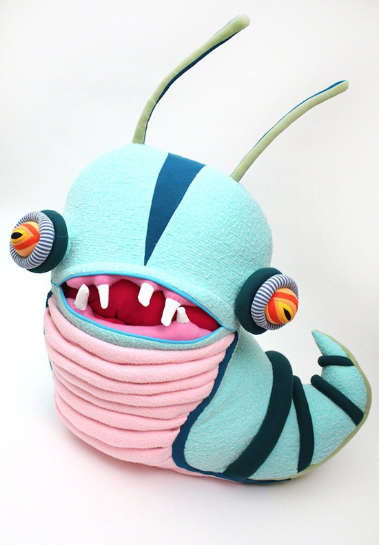 Cotton Monsters by Jennifer Strunge - Upcycled Toys - Monster Art Toys | Small for Big