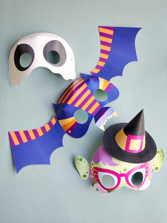DIY Printable Masks for Kids - Paper Masks Crafts for Kids - Halloween Masks DIY | Small for Big