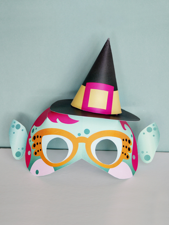 diy printable masks for kids - ghost, witch,and bat diy mask printables