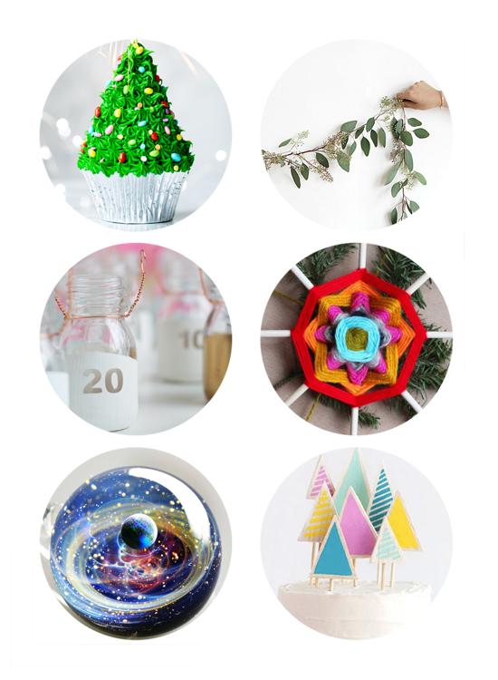 This week's links include Christmas Cupcakes, DIY Christmas Decor, DIY Advent Calendar, DIY Christmas Wrapping, Galaxy Glass Gift & Christmas Tree Cake.