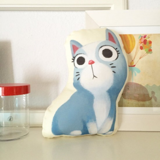 Little Red House Etsy Shop - Cat Cushions - Kitty Cat PIllows for Kids | Small for Big