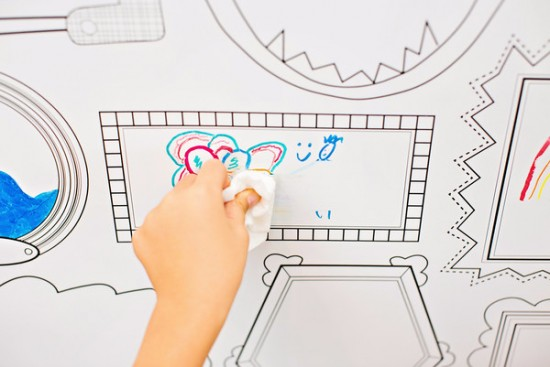 Plaeful Dry Erase Removable Wallpaper for Kids  - Erasable Frames Wall Decals