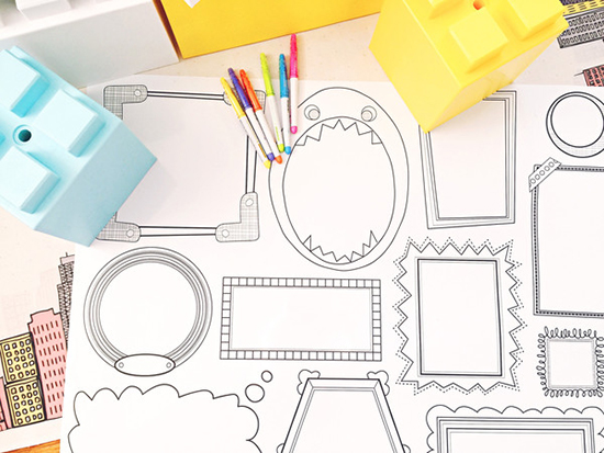 Dry Erase Removable Wallpaper for Kids - Erasable Frames Wall Decals - Plaeful | Small for Big