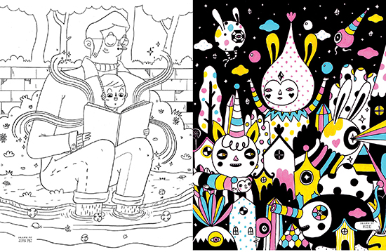Doodlers Anonymous Epic Coloring Book - Artist Coloring Book for Kids and Adults
