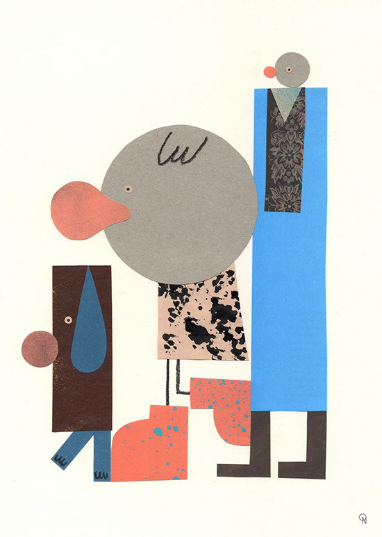 Mid-century inspiration - Retro Illustration - Ola Niepsuj illustrator | Small for Big