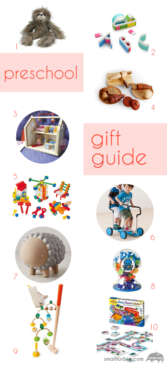 Preschool Kids Gift Guide - 10 Best Gifts for Kids - Christmas Gifts and Toys for pre-k | Small for Big