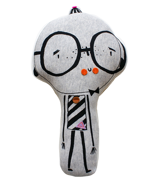 corby tindersticks stuffed toy with glasses