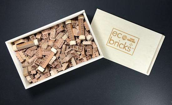 Eco-bricks - Wooden Lego building bricks - Eco Construction toys for kids | Small for Big