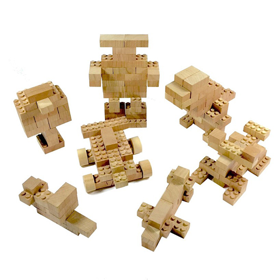 Eco-bricks – Wooden Lego building bricks – Eco Construction toys for ...