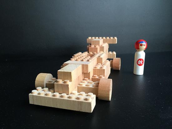 Eco-bricks wooden building bricks like Legos - Ecofriendly construction toys
