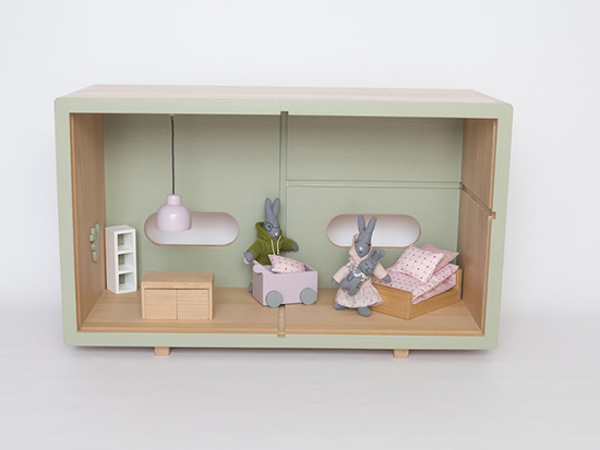 Encore Toys - french eco-friendly wood dollhouses, doll furniture, and organic cotton stuffed rabbit family