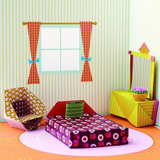 Origami Playhouse Paper Craft Dollhouse Origami Dollhouse Kit