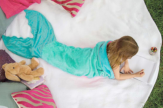 Blankie Tails - Mermaid Blankets for Kids - Fish and Shark Throw Blankets | Small for Big