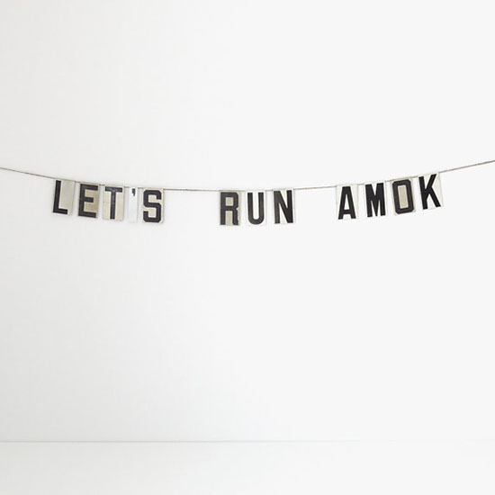 Let's Run Amok banner on Etsy