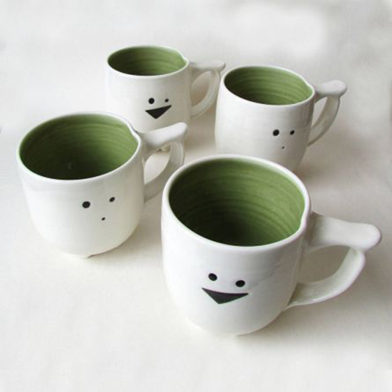 animal mugs handmade porcelain cups