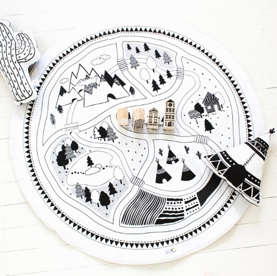 Map Playmat - Babee & Me Modern Toys - Black and White Toys | Small for Big