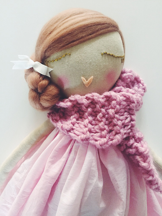 Dollface handmade rag dolls by Jessica Lee