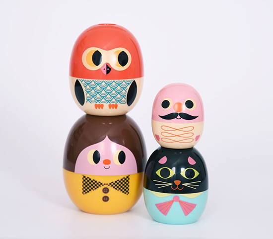 Stacking Nesting Toys - Omm Design Babyoshka - Ingela Arrhenius | Small for Big