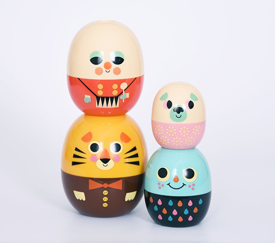 Stacking Nesting Dolls - babyoshka - ingela arrhenius illustrator -