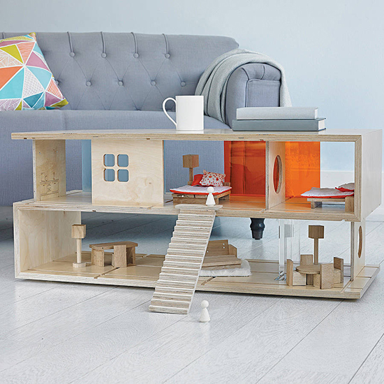 Qubis Haus Dollhouse - Family and Kids Furniture - Coffee table dollhouse | Small for Big