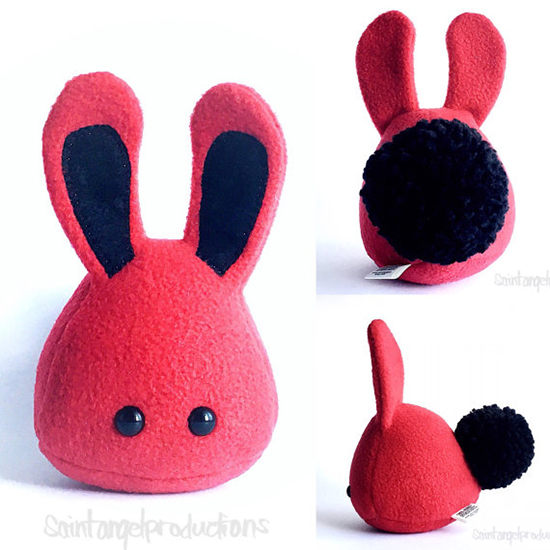 Saint Angel Stuffed Toy - Handmade stuffed bunny for kids