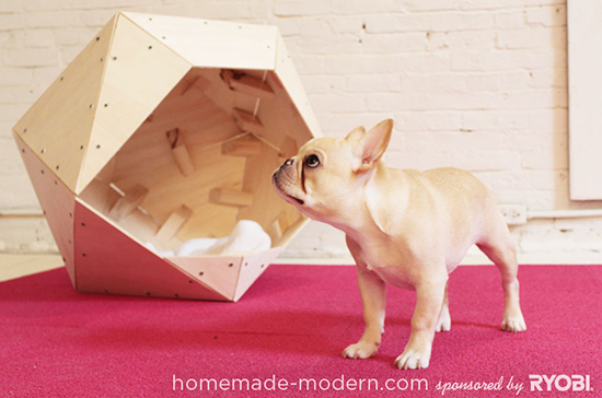 Modern Doghouse DIY - Geometric Playhouse - Doghouse Plans | Small for Big