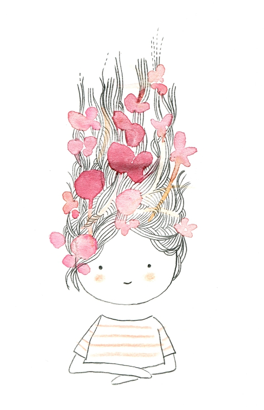 Les Chosettes - Illustration - Girl with Flowers in her Hair | Small for Big