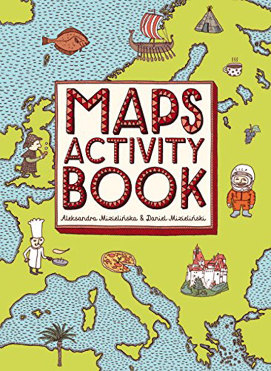 Maps Poster and Activity Books for Kids