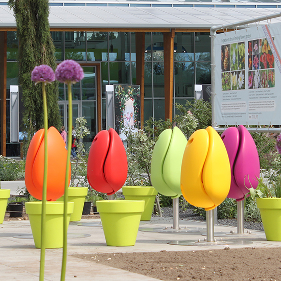 Tulpi Seat - Modern Tulip Chair - Playful Public Art | Small for Big