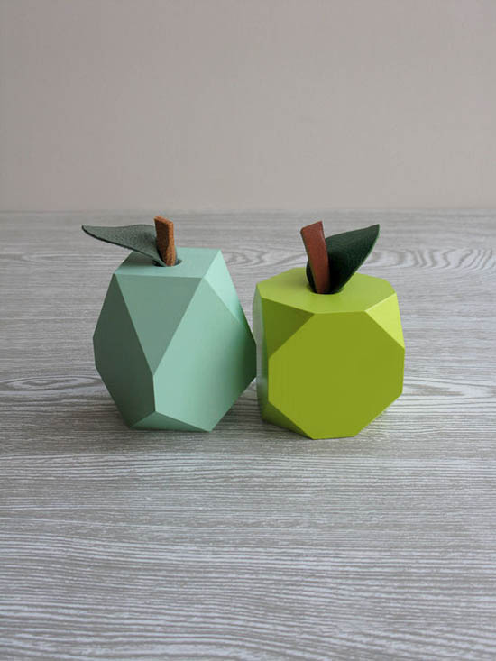 Loglike - Modern Wood Gifts - Geo Wood Fruit | Small for Big