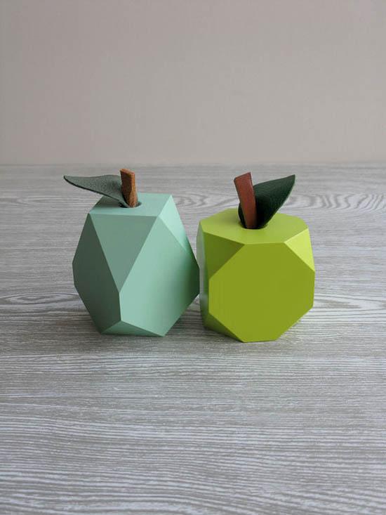 Loglike - Modern Wood Gifts - Geo Wood Fruit   Small for Big