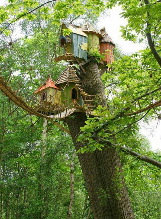 Modern treehouses unique tree house design a treehouse for Small tree house