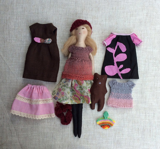 Dollisimo handmade dolls - dress up dolls on Etsy - Mom and Me Dolls | Small for Big