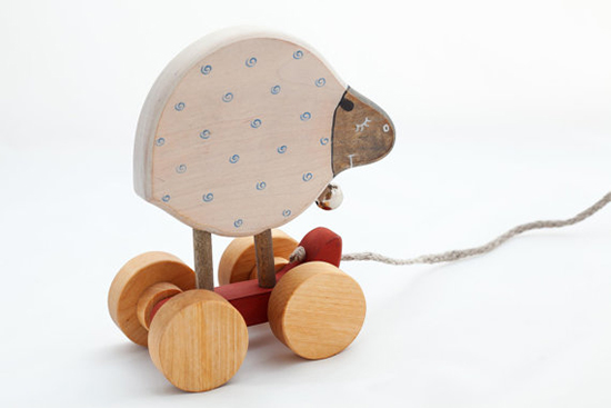 Friendly Toys wooden Toys - Handmade Wood Toys for Toddlers - Wooden Pull Toy | Small for Big