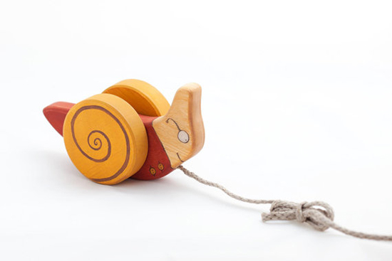 Friendly Toys - handmade wooden pull toy on etsy