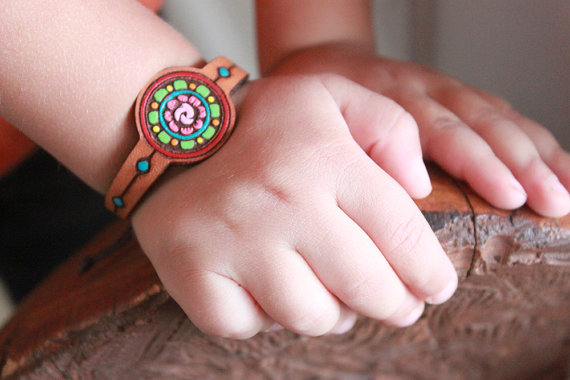 leather cuff for kids with quotes and sayings - mother father gifts