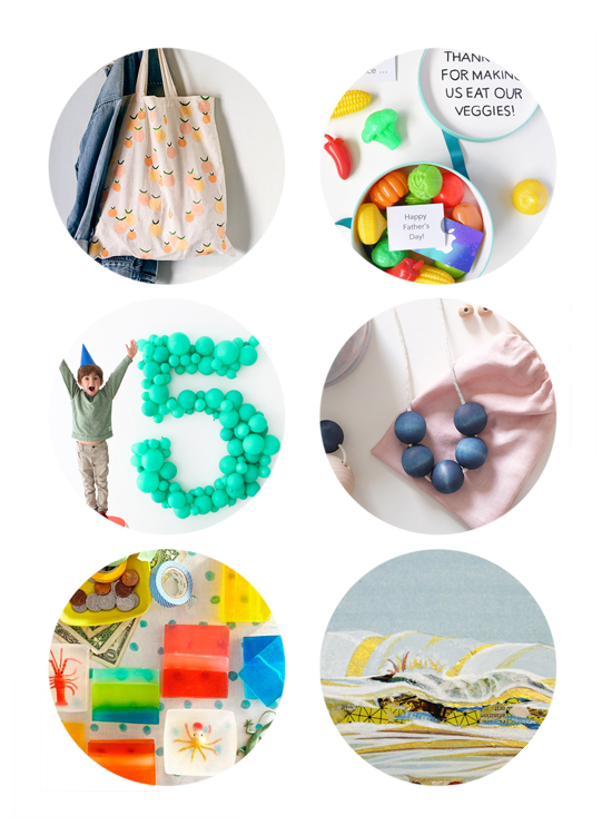 This week's top links include Father's Day DIY, Summer Tote DIY, Miniature Collage Art, Giant Balloon Numbers.