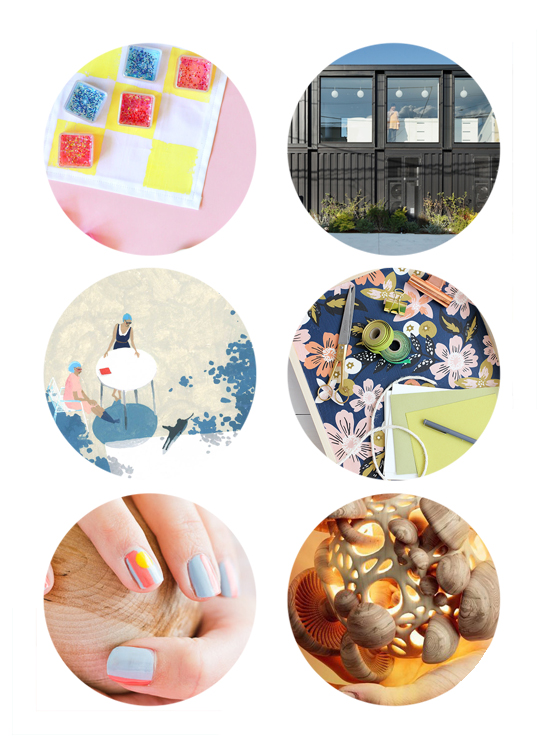 This week's top links include glitter tic tac toe, new kindergarten building, diy tray, summer nail art, mushroom art.