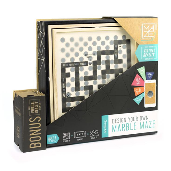 Seedling craft kit - build your own marble maze and virtual reality viewer coding kit for kids