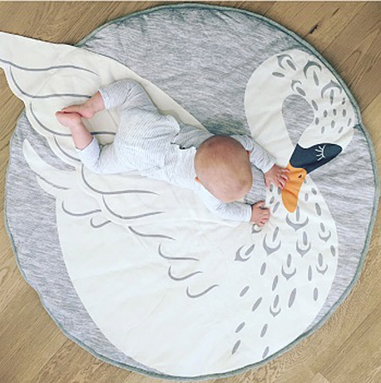 modern swan playmat from sweet creations