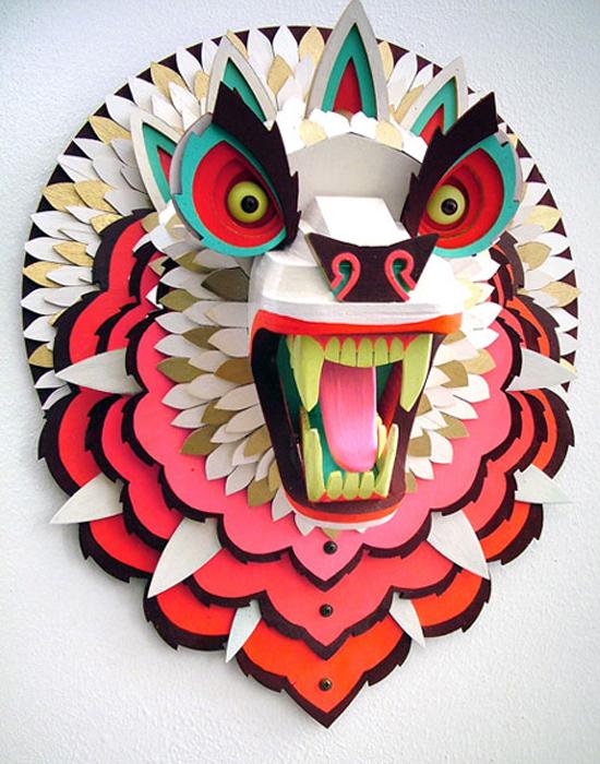 AJ Fosik Artist - Carved Wooden Masks - Modern Chinese Masks | Small for Big