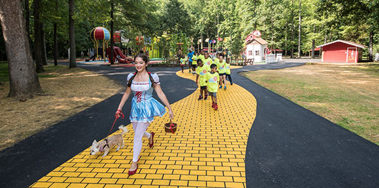 Wizard of Oz Park - Ruby Slippers Playground - Rainbow Playground for Kids | Small for Big
