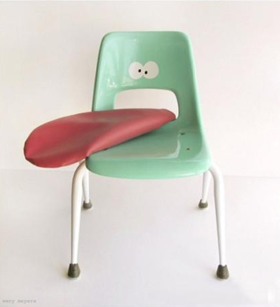 Children's Furniture - Kids Decor - Chair with Face and Tongue | Small for Big