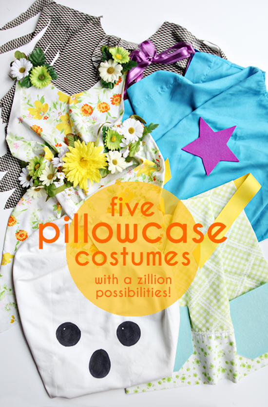 DIY Pillowcase Costumes - Halloween Crafts for Kids - DIY Halloween Costumes | Small for Big