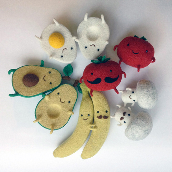 hannah dovhan felt fruit toys and felted garlands
