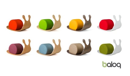 Wiggy the Snail modern wood rocking toy - rocker for babies and toddlers