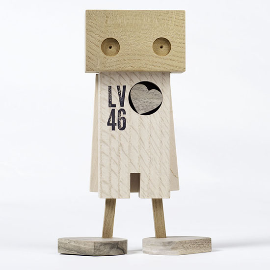 Daniel Moyer Design - Handmade Upcycled Wood Toys - Modern Wood Robots | Small for Big