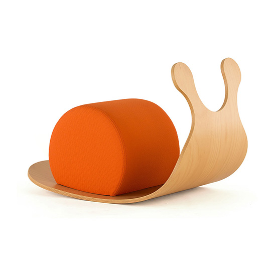 Wooden Rocker Toy - Rocking Snail for Toddlers - Snail Rocker for Christmas | Small for Big