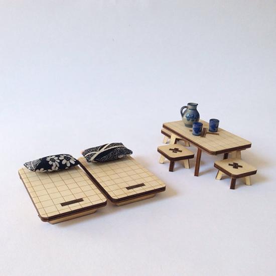 Modern wood dollhouse milkywood handmade dollhouse for Accessoire maison barbie